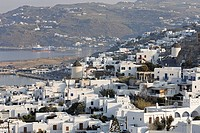 View over the Chora old town, Myconos, Greece