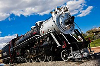 Low angle view of a locomotive, Three Centuries Memorial Park, Aguascalientes, Mexico