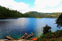 High angle view of a lake, Lagunas De Montebello National Park, Chiapas, Mexico