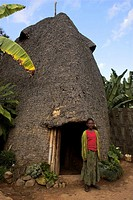 Traditional beehive house of the Dorze people made entirely from organic materials, Chencha mountains, Ethiopia, Africa