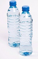 Close_up of two water bottles
