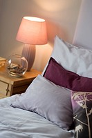 Southside, Radcliffe_on_Trent. pillows and bedside lamp. Architect: Rayner Davies. Based in Nottingham, Hunt Habitats are a family run property develo...