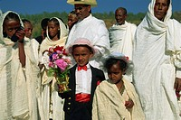 Page boy at wedding party, Ethiopia, Africa