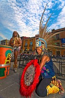 Two people performing, Zocalo, Mexico City, Mexico (thumbnail)