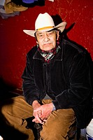 Portrait of a senior man, Zacatecas State, Mexico