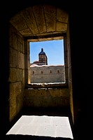 Art museum viewed through a window, Santo Domingo, Oaxaca, Oaxaca State, Mexico