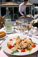 Salad Grand Bleu, Le Grand Bleu restaurant, Bonifacio, island of Corsica, France, Europe