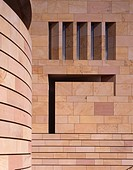 Museum of Scotland, Edinburgh, Scotland. Facade detail. Architect: Benson and Forsyth