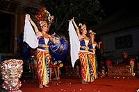 Legong dance in Ubud, Bali, Indonesien