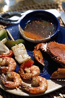 Philippinian special seafood dishes