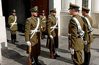 Changing of the Guard, La Moneda Palace, Santiago, Chile, South America