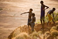 Aboriginal children, Central Australia, Australia, Pacific