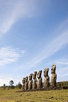 Ahu Akivi, UNESCO World Heritage Site, Easter Island Rapa Nui, Chile, South America