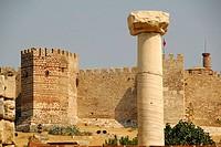 Saint John Basilica and the Citadel in the background, Selçuk, Turkey