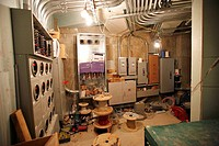 Construction site electrical room under construction