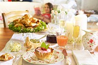 Pastries and drinks for Easter brunch