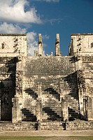 Mexico, Yucatan, Chichen Itza, Temple of the Warriors