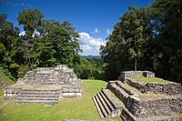Plaza A ruins, Caracol Maya archaeological site, Belize