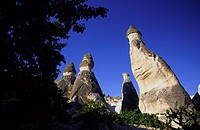 Fairy chimneys, Zelve. Cappadocia, Anatolia, Turkey