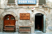 Forn Vell restaurant, Castello d´Empuries. Girona province, Catalonia, Spain