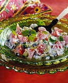 Raita cucumber salad with yoghurt, India