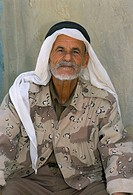 Portrait of a Bedouin man, Dana Reserve, Jordan, Middle East