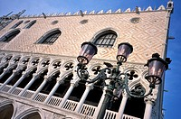 Facade of the Doges Palace, St. Mark's Square, UNESCO World Heritage Site, Venice, Veneto, Italy, Europe