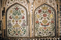 Interior detail, Amber Fort, one of the great Rajput forts, Amber, near Jaipur, Rajasthan state, India, Asia