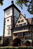 Old town gate, Freiburg, Baden Wurttemberg, Germany, Europe