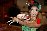 Female traditional dancer Bangkok Thailand