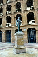 Statue in front of the bull fight arena, Valencia, Spain