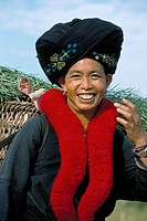 Yao lady, Pom Dom Than Yao village, Maung Sing, Laos, Indochina, Southeast Asia, Asia