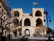 Torres de Serranos, Town gate in Valencia, Spain