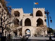 Torres de Serranos, Town gate in Valencia, Spain