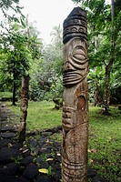 Tikis at Hatiheu, Nuku Hiva island, Marquesas islands, French Polynesia