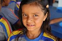 School girl Municipal school Moura Brazil