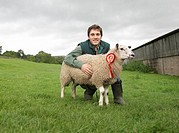 Farmer With Prize_Winning Sheep