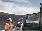 Ecologists Talking At Mine
