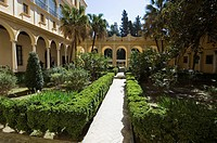 The gardens of the Real Alcazar, UNESCO World Heritage Site, Santa Cruz district, Seville, Andalusia Andalucia, Spain, Europe