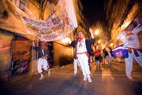Clubs parade, San Fermin festival, Pamplona, Navarra, Euskadi, Spain, Europe