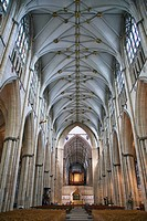 Gothic Cathedral (Minster) of St. Peter, York. Yorkshire, England, UK