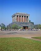 Ho Chi Minh´s mausoleum, Hanoi, Vietnam, Indochina, Southeast Asia, Asia
