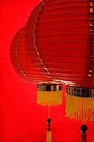 Still life of red lanterns