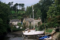 Porth Navas on creek of Helford River, Cornwall, England, United Kingdom, Europe