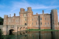 Herstmonceux castle, dating from 15th century, Sussex, England, United Kingdom, Europe