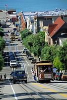 Street scene, Hyde Street, San Francisco, California, USA