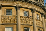 Architectural detail the Circus, Bath, UNESCO World Heritage Site, Avon, England, U.K., Europe