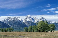 Teton Mountain Range, Grand Teton National Park, Wyoming, United States of America U.S.A., North America