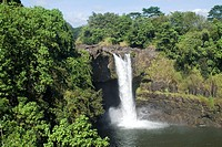 Rainbow Falls near Hilo, Island of Hawaii Big Island, Hawaii, United States of America, North America