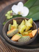 melon,Carambola and orchids